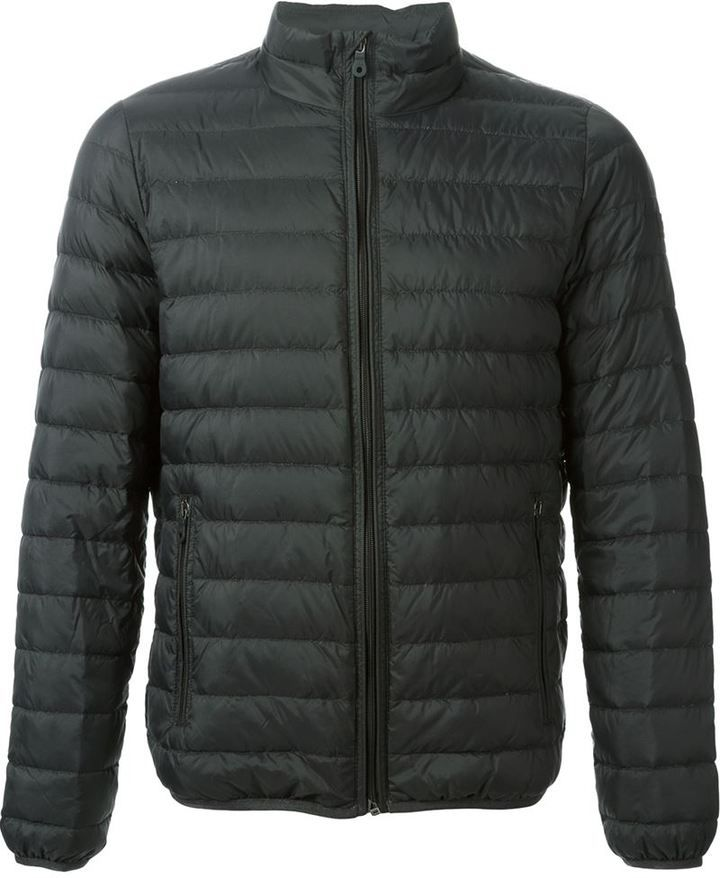 Armani Jeans zipped padded jacket on shopstyle.com