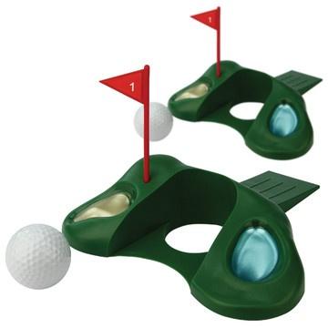 Door-In-One. Prop the door open and practice your putting at the same time. Genius! #Golf