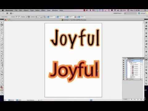 How to build outlines around type without destroying the legibility or readability of the text. In this video, we use the pathfinder palette, appearances pal...