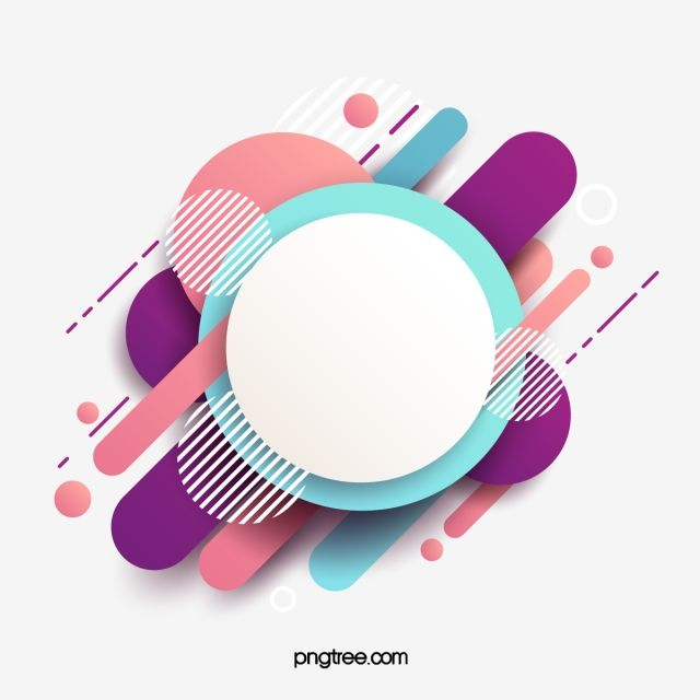 2020 的 Simple Abstract Color Border Simple Abstract Circular