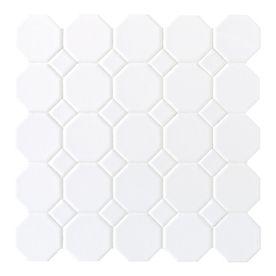 Sausalito White White Ceramic Floor Tile
