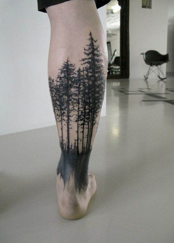 Forest tattoos are not just impressive tattoos; these also mean endurance and being able to stand tall and proud even with all the storms that comes.