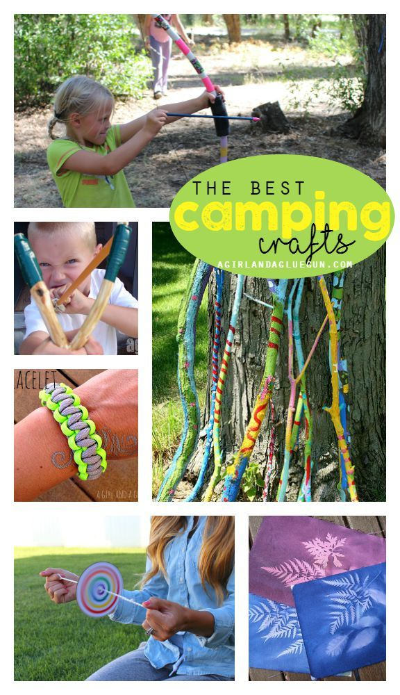 When ya camp with kids, you need crafts sometimes!  But what do you do?  Check out some of these, as they can really make a long camping trip without electronics fun! #Camping #outdoors #kids