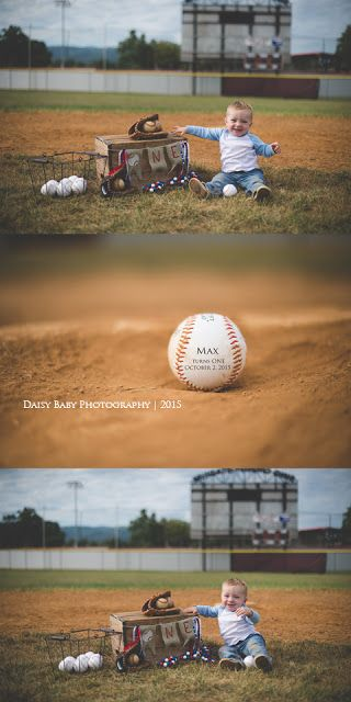 Daisy Baby Photography: Max turns 1 | Baseball Cake Smash | Daisy baby Pho...