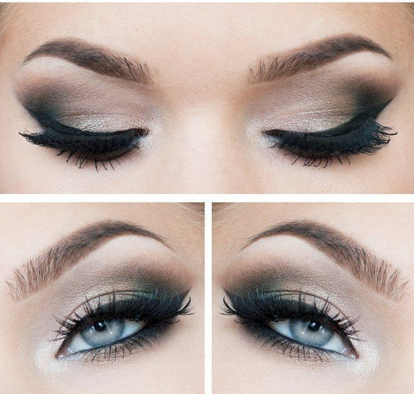 Smokey eyes and Eyeliner - Best Make-up for Blue eyes