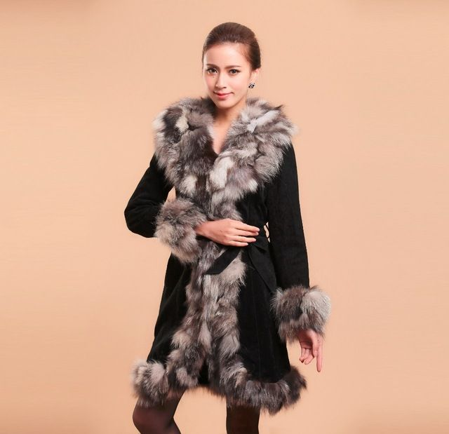 Fur Story 010204 2015 New Style Genuine Leather Coat Silver Fox Fur Collar Jacket Winter Women's Leather Jackets Ceinture US $148.19 /piece    CLICK LINK TO BUY THE PRODUCT  http://goo.gl/oYWEYs