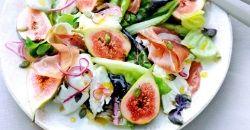 Recept: Salade met burrata, vijgen, parmaham en sinaasappeldressing