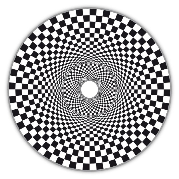 op art double hollow circle