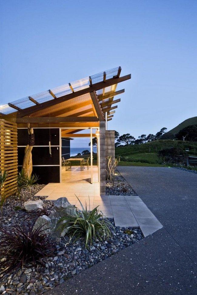 New Zealand beach home.