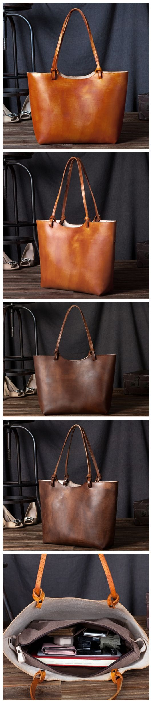 Handmade women fashion leather tote bag shoulder bag handbag shopper bag C105 Overview: Design: Fashion & Modern Leather Women Tote In Stock: 3-5 days For Making Include: Only Tote Bag Custom: No Colo