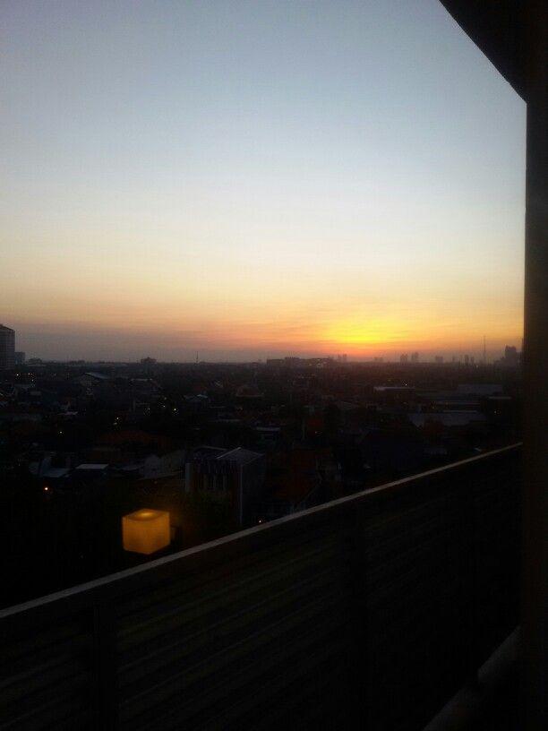 #sunset from 9th floor santika hotel jemur sari surabaya..