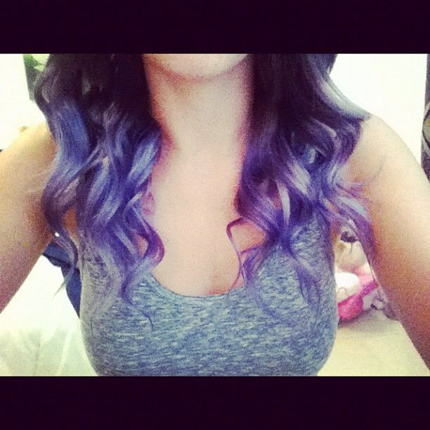 24 Awesome lilac dip dye on brown hair images