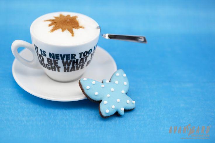 Tyrkysová svatební inspirace - káva s perníkem   ///   Turquoise wedding  inspiration - coffee with gingerbread