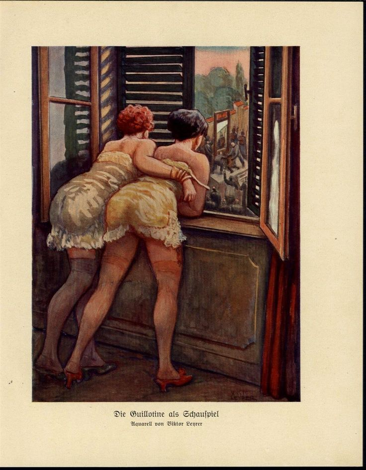 Two+Women+Watching+Guillotine+Execution+from+Window+-+1931+Art+Deco+Print.JPG 1,245×1,599 pixels