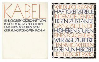 Rudolf Koch, Kabel light, c. 1928.