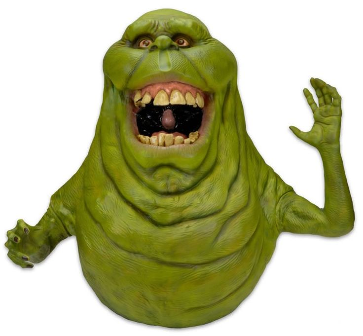Life-Size Slimer Replica Recreates Ghostbusters Action Minus His Smell -  #ghostbusters #NECA #slimer
