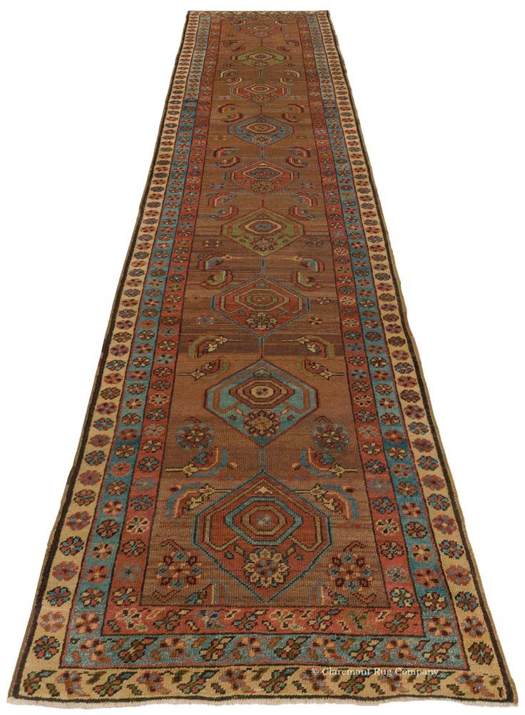 HERIZ CAMELHAIR, Northwest Persian 2ft 8in X 13ft 5in Late 19th Century  Http:/