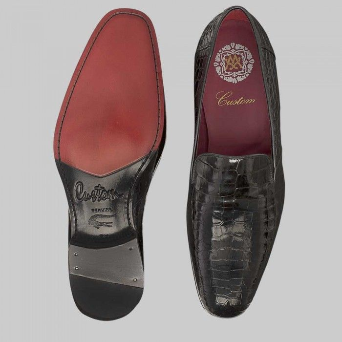 1ab1e5c625f Mezlan Mens Shoes Calvino Black Full Alligator Loafers (MZW2536) in ...