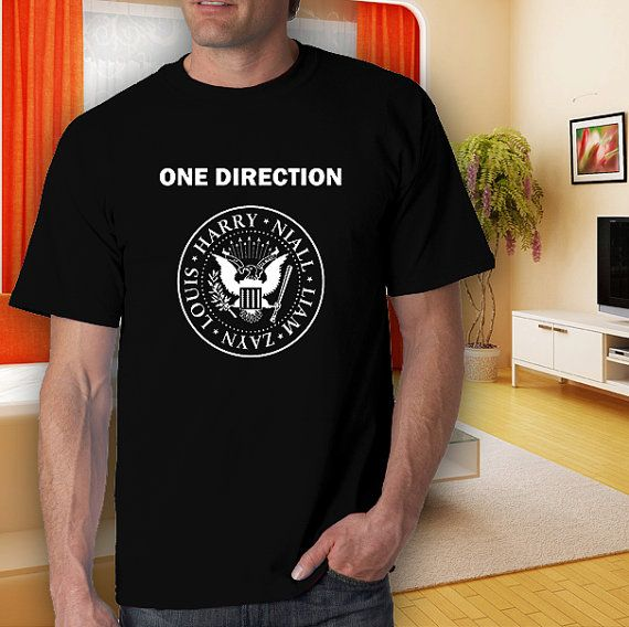 one direction ramones harry style adult black tshirt by goodwear, $14.99 #tshirt #t-shirt #5sostshirt