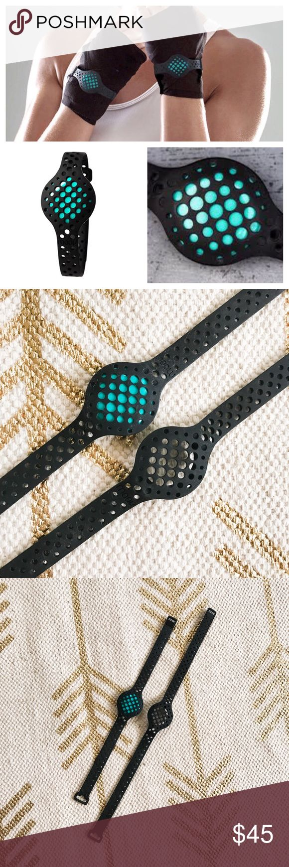 Moov Now Fitness tracker bracelet and anklet blue Like new moov now in blue/teal. Comes with two bracelets one long one short (can be used on ankle). This was paired with the app and worn for a day or two but then never used. Accessories Watches