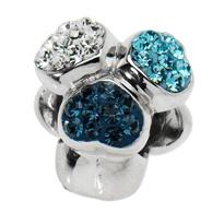 Amore & Baci silver and Swarovski 3-heart bead #silverjewelry #beads