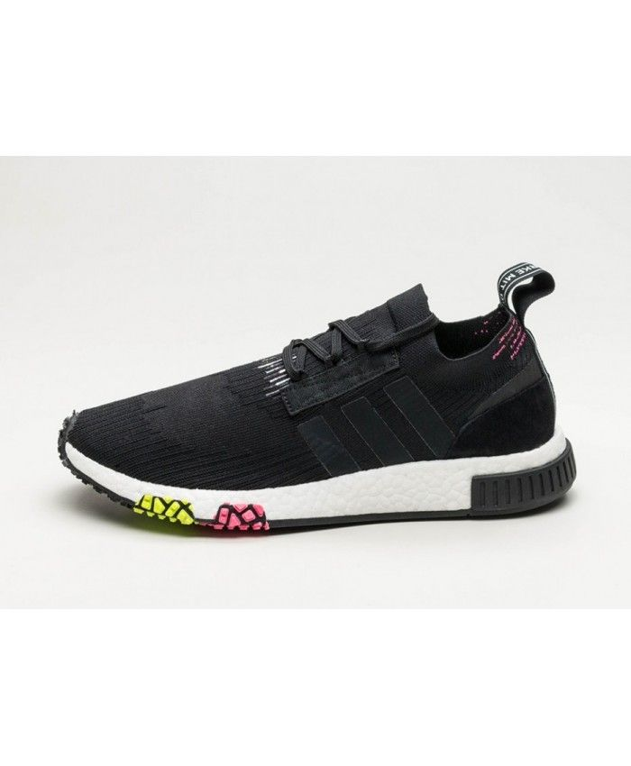 5ab8f2b10285 Cheap Adidas NMD Racer PK Core Black Pink Trainers