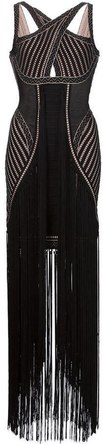 Pin for Later: Die schönsten Flapper-Kleider für jede Figur  Herve Leger gewebtes Kleid mit Fransen (2.614 €)