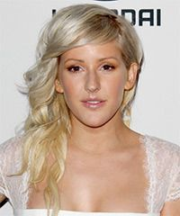 Ellie Goulding Long Wavy Light Blonde Hairstyle