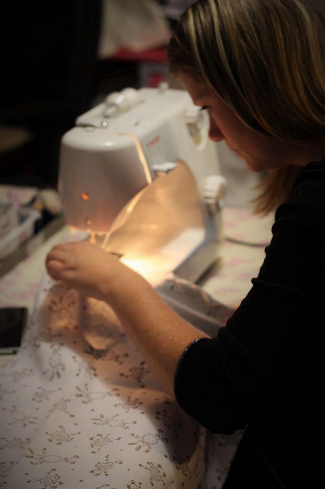 atelier couture créative à castets et Morcenx, réalisation d'une turbulette