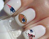 New England Patriots NFL Football nail decals tattoos nail art