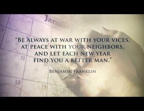 Ben Franklin bringing the wisdom to this New Years Eve party!