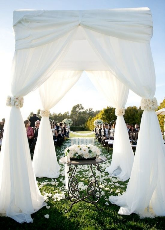 Outdoor Wedding Draping! I love this!!