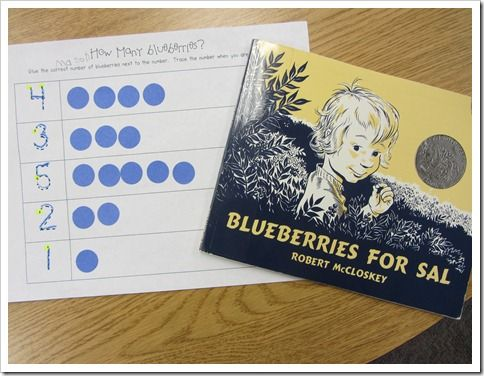 Counting and recognizing numbers - and the color blue!
