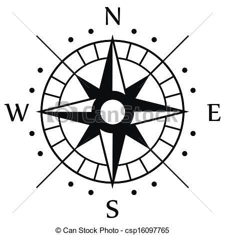 Clip Art Vector of Black Compass Symbol csp16097765 - Search ...