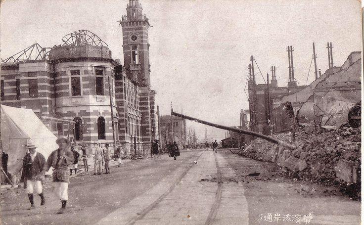 yokohama 海岸通り。 l923 after earthquake