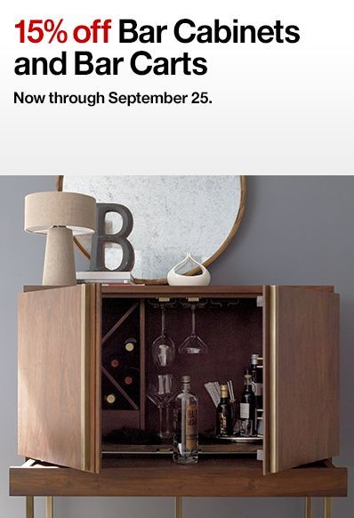 Bar Carts and Bar Cabinets Sale   Crate and Barrel