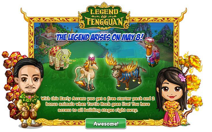 Legend of Tengguan: Turtle Rock (dall8 maggio) tempo stimato per la lettura di questo articolo 1 minuti  La Legend of Tengguan farm ha unulteriore particolarità: come per la Once Upon a Winter la farm è divisa in 2 parti. Attesa per l8 maggio lapertura della 2 zona Turtle Rock!      Chi è entrato con lEarly Access nellaLegend of Tengguan (quindi il 17 Aprile) otterranno GRATIS anche un secondo Starter Pack contenente:  (contenuto ancora non disponibile)    Inoltre otterranno 2 animali…