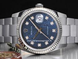 Rolex - Datejust 116234 Cassa: acciaio - 36 mm Ghiera: oro bianco Vetro: zaffiro Quadrante: jubilee - con diamanti Bracciale: oyster Chiusura: oysterclasp con easylink Movimento: automatico