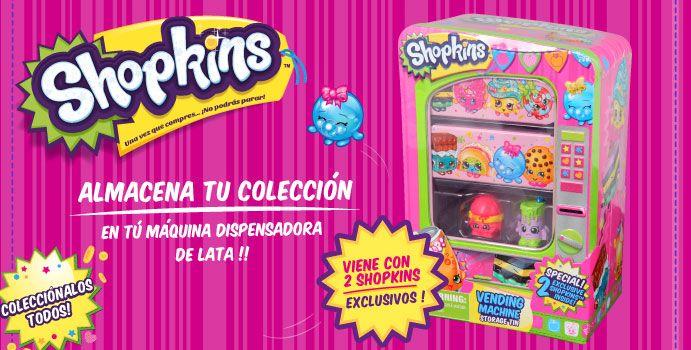 Almacena tu colección Shopkins en tú máquina dispensadora de lata!