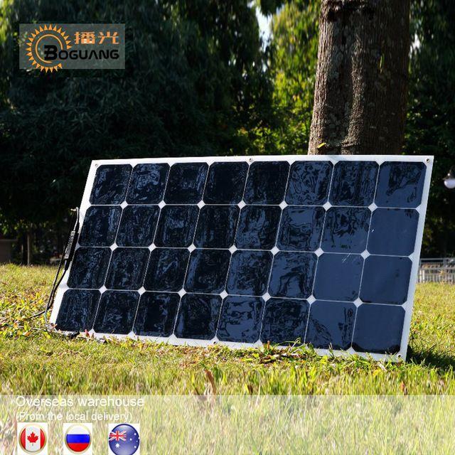1pcs 2pcs 4pcs 6pcs Flexible Solar Panel 100w Sun Power Monocrystalline Solar Panels 18v 12v Lightweight 100 Watt Power Plate Review Solar Panels Solar Energy Panels Solar Energy For Home