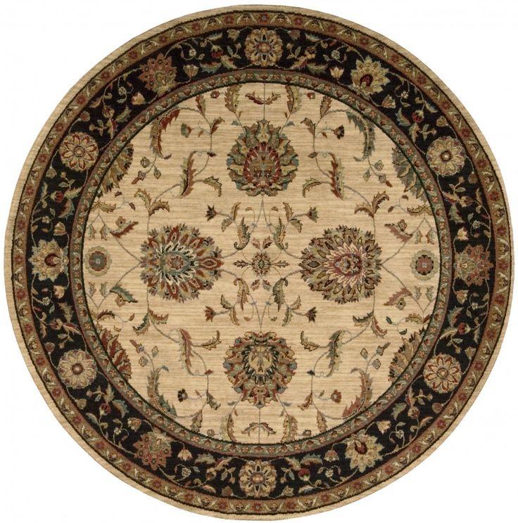 Living Treasures - Rond - NOURISON - Ivoor - klassieke tapijten - ref. Li04 IBK  Prachtig geweven klassiek tapijt van Nourison in het ivoor - ivoor zwart met als afmetingen 'diameter 239 cm' (rond)  EUR 899.00  Meer informatie