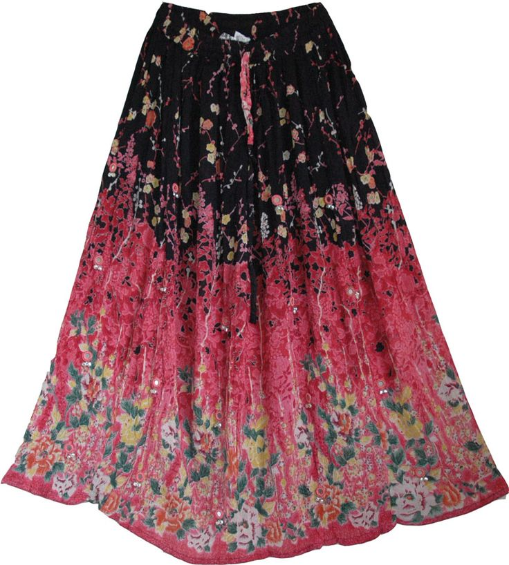Floral Gypsy Long Skirt