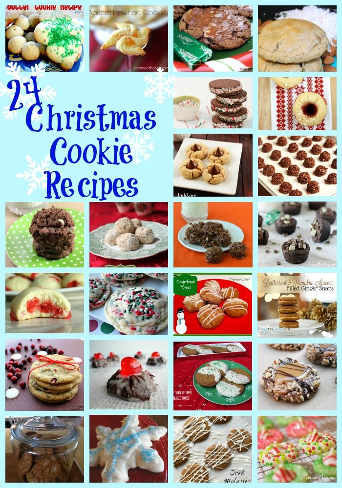 24 Christmas Cookie Recipes - perfect for a cookie exchange! events to CELEBRATE!