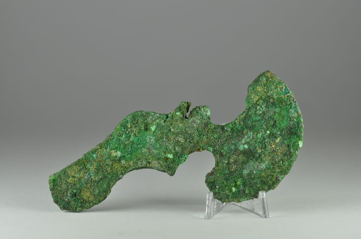 Luristan bronze axe head, 2nd-1st millenium B.C. Luristan bronze axe head, Luristan bronze shaft hole axe head with rounded lunate blade, an eye in the middle, 11.1 cm long. Private collection