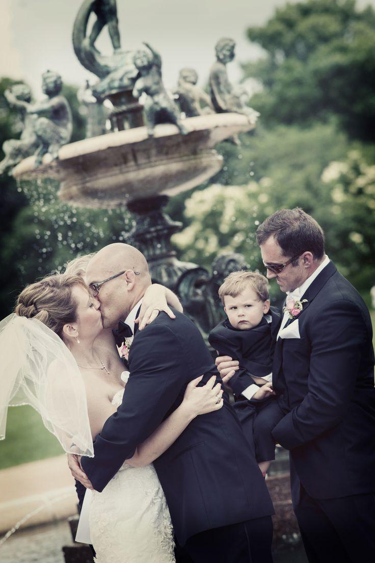 Love this romantic kiss! Photo by Mariah. #MNWeddingPhotographer #WeddingKiss
