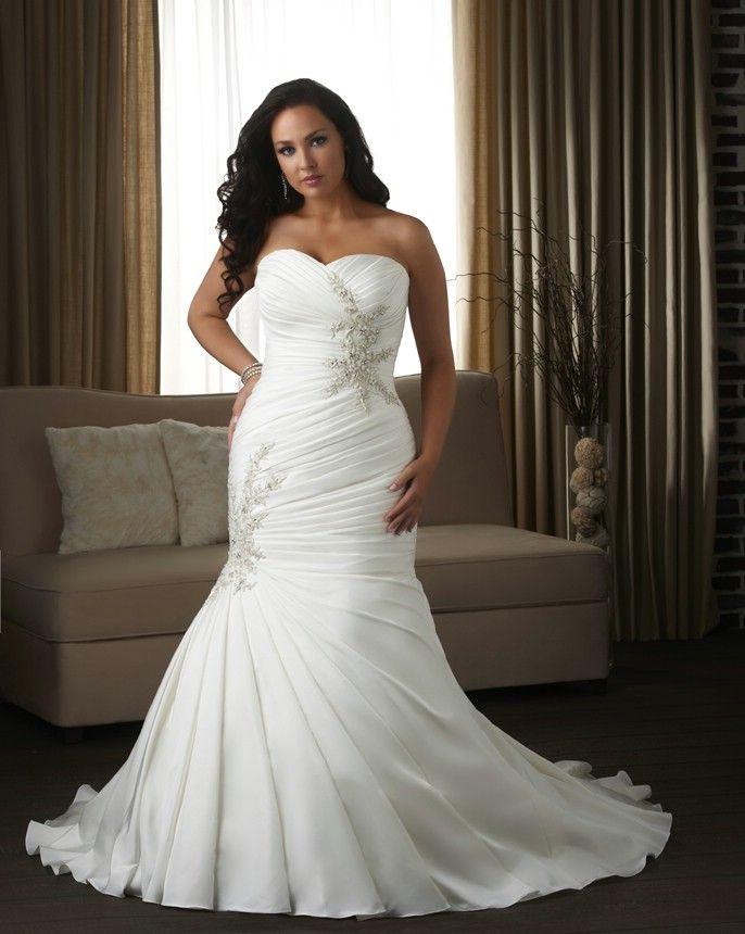 Beautiful plus size wedding dress bonny unforgettable for Full body wedding dress