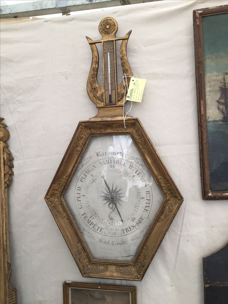 "French Barometer, 37"" H x 20"" W.  Vender is a friend of owner of Rise  Restaurants in Dallas and Houston!"
