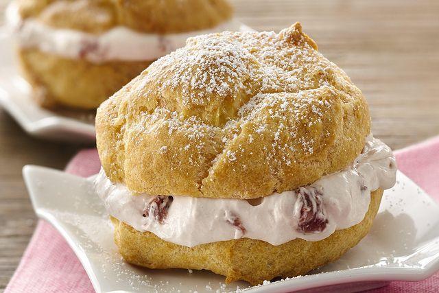 Strawberry Cream Cheese Cream Puffs Recipe