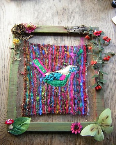 weaving project by meadowdoe, via Flickr