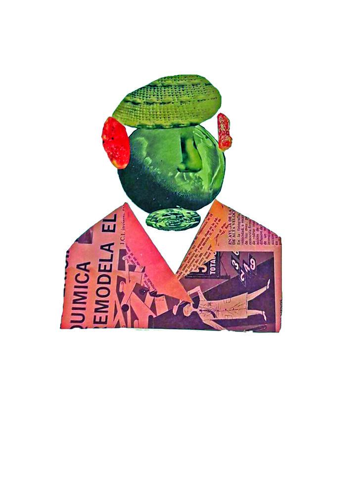 Pablo Neruda   boceto collage